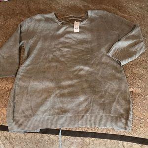 NY & CO lace up back sweater